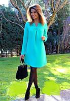 Платье ментоловое с бантиком  ндев120, фото 1