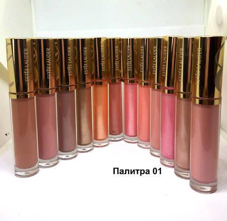 28 Блеск для губ Estee Lauder Pure Color Gloss (Продается по 12шт, Палитра 01, 02, 03) Цена за штуку