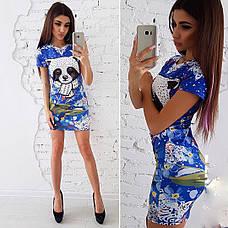 Платье летнее мини с принтом разные расцветки, фото 2
