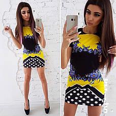 Платье летнее мини с принтом разные расцветки, фото 3