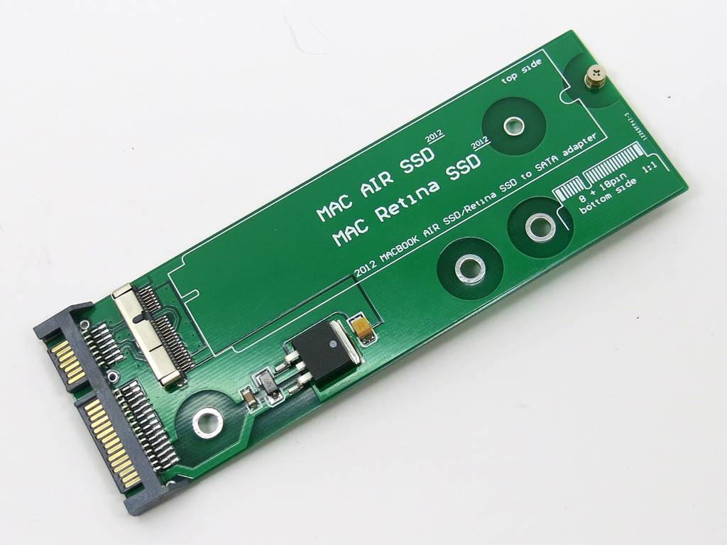 Плата подключения диска SSD Apple MacBook Pro 2012 SATA 8+18 pin (A139
