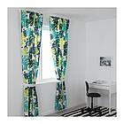 Гардины с прихватом IKEA URSKOG 120x300 см 1 пара с рисунками джунглей зеленый 303.938.93, фото 3