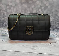 Черный женский клатч-сумка в стиле Шанель