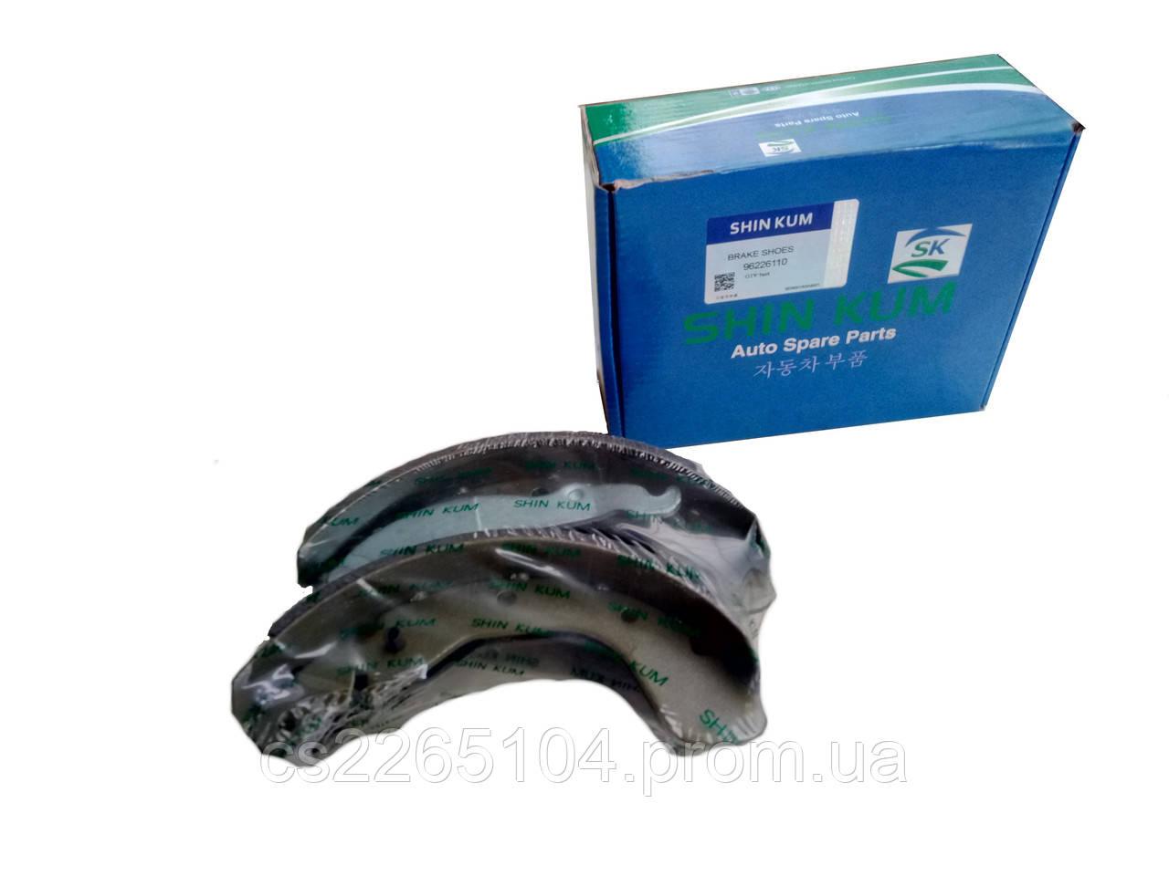 Колодки тормозные задние Lanos Sens,Nexia (Shin Kum) Корея