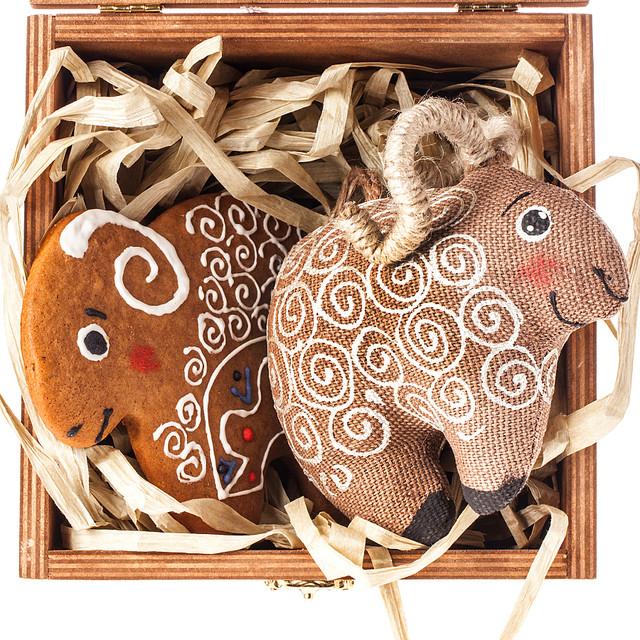 Новогодний подарочный набор с барашком