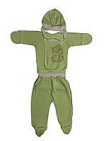Трикотажный костюм Украина рост 62 салатовый для новорожденных на мальчика/девочку Б-384С(17)62