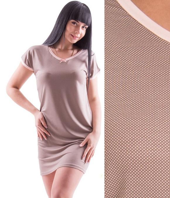 c753225ab49de24 Ночная сорочка из вискозы женская ночнушка в мелкий горошек красивая  трикотажная Украина - Интернет магазин Sport