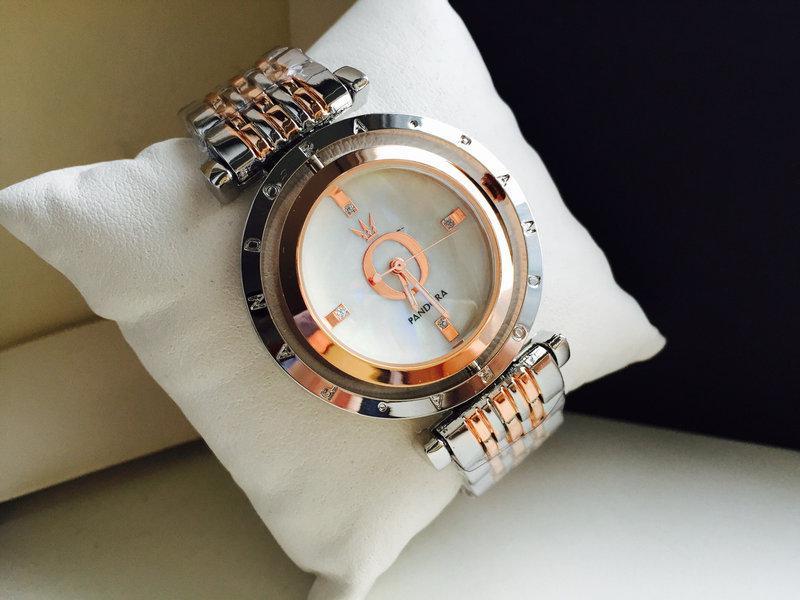 acb048afd1de Женские наручные часы Pandora, серебро+золото, Пандора  продажа ...