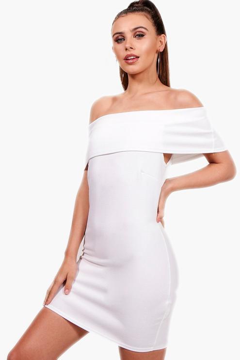 Новое платье с открытыми плечами Boohoo