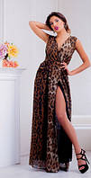 Платье леопардовое в пол  ля043, фото 1