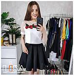 Женский костюм: топ с вышивкой и фатином и юбка-солнце (5 цветов), фото 4