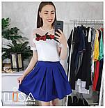 Женский костюм: топ с вышивкой и фатином и юбка-солнце (5 цветов), фото 7