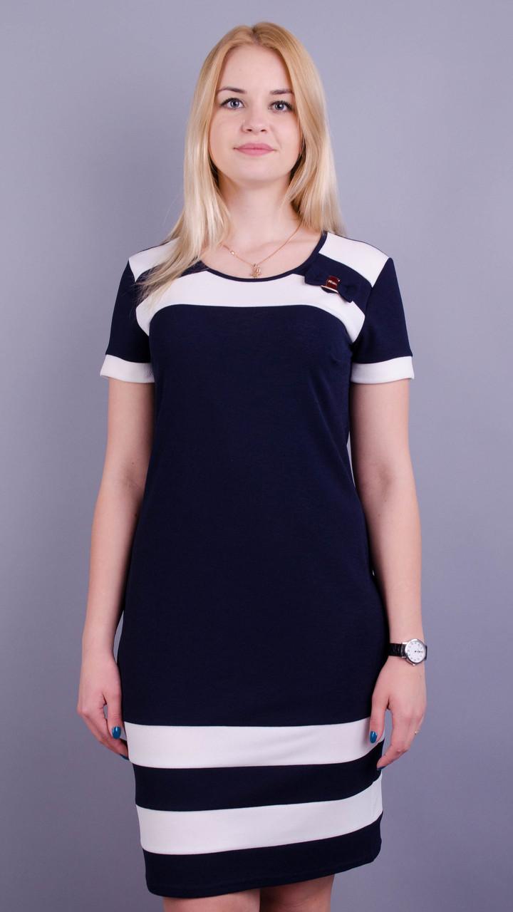 Шанель літо. Стильна сукня плюс сайз. Синій Розмір 50 52 54 56 58 60 ... 71a97abe9d92d
