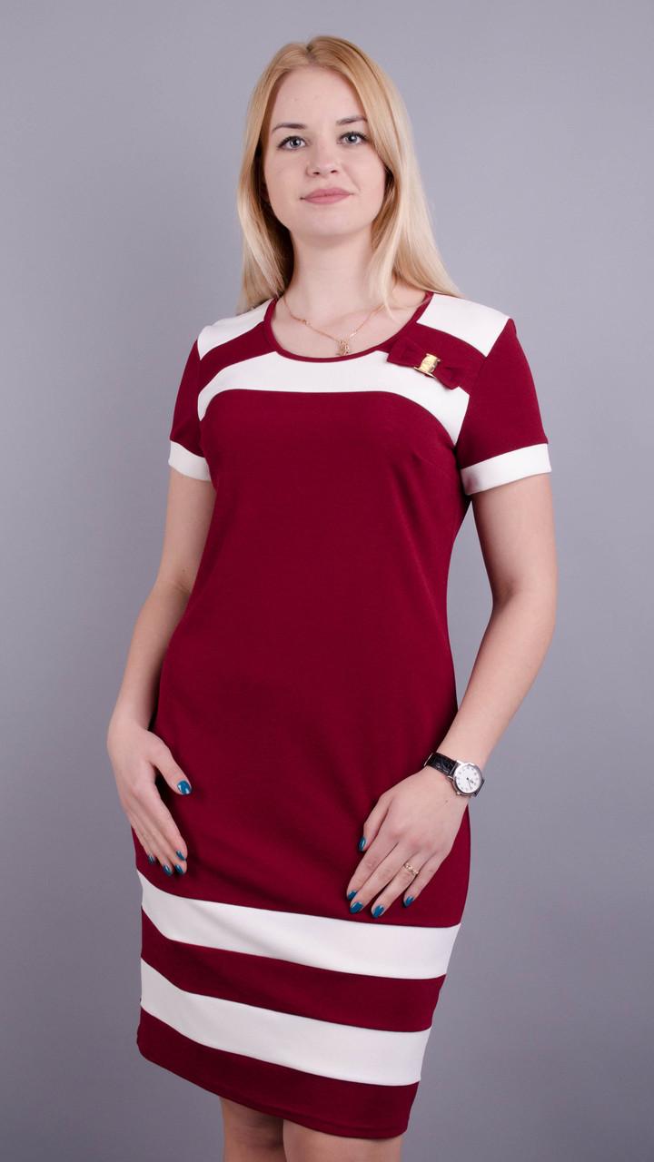 Шанель літо. Стильна сукня плюс сайз. Бордо Розмір 50 52 54 56 58 60 ... f883d5977b216