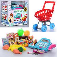 Детский кассовый аппарат и тележка с продуктами 66051BX