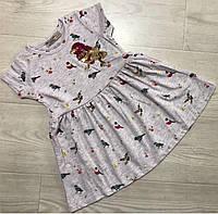 Летнее платье для девочки 1/2-,3/4,5/6 лет.