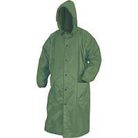Плащ дождевик ПВХ непромокаемый зеленый 60