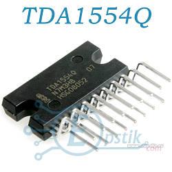 TDA1554Q, четырехканальный аудио усилитель B класса, 4x11Вт/2х22Вт, DBS17P