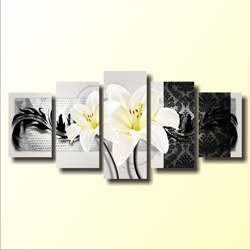 """Модульная картина """"White lilies"""""""