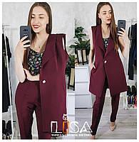Женский костюм: жилет удлиненный и брюки (5 цветов)