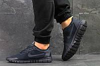 Мужские кроссовки Nike Free Run найк фри ран - темно-синие-Текстильная сетка,подошва пена размеры:41-45 Лето, фото 1