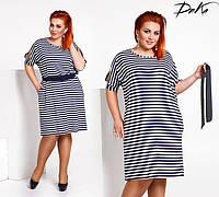 Платье  с поясом,большие размеры 48-58, фото 1