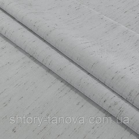 Декоративна тафта біло-сірий