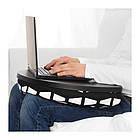Подставка для ноутбука IKEA BYLLAN Ebbarp черный белый 704.035.12, фото 2