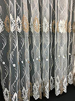 Тюль вышивка Изабелла Виски, 3 метра, фото 2