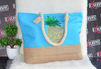 Женская тканевая пляжная сумка Ананас, фото 1