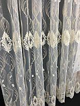 Тюль вышивка Изабелла Золото, 3 метра, фото 2