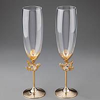 Свадебные бокалы Crystocraft с кристаллами Сваровски 0375-C11