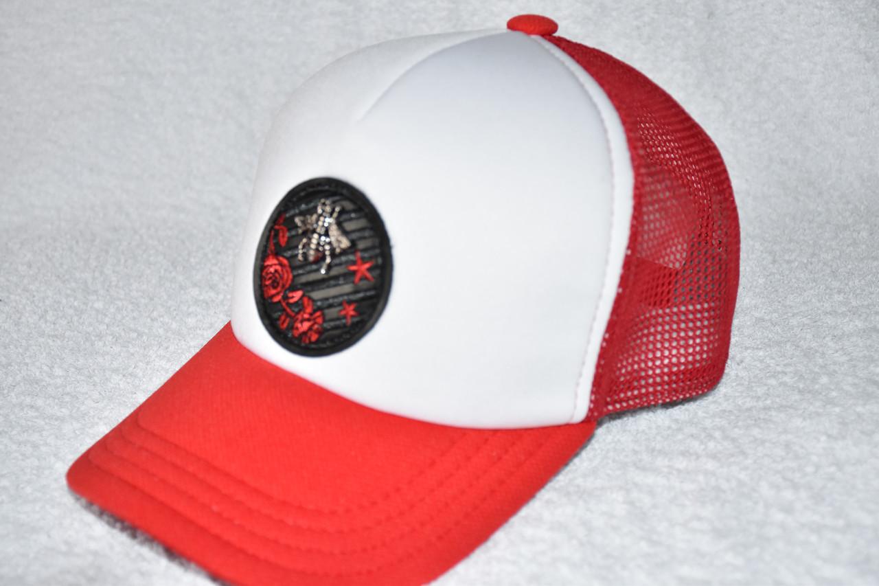 Кепка Gucci красная с белым