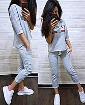 Шикарный костюм GUCCI, футболка и брюки 7/8 размеры от 42 до 56, фото 3