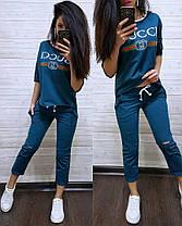 Шикарный костюм GUCCI, футболка и брюки 7/8 размеры от 42 до 56, фото 2