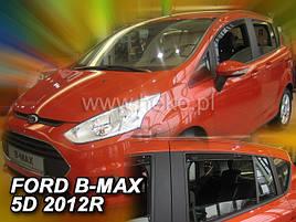 Дефлектори вікон (вітровики) FORD B-MAX - 5D 2012R.->(HEKO)