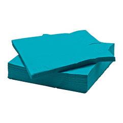 Набор бумажных салфеток IKEA FANTASTISK 50 шт 33x33 см бирюзовый 903.987.98