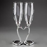 Свадебные бокалы Лебеди 003GT