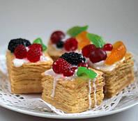Мыло ручной работы Тортик Наполеон с фруктами, 140 грамм, фото 1