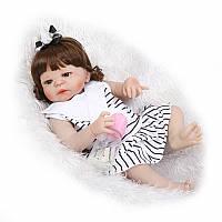 Кукла реборн 57 см полностью виниловая девочка Олеся