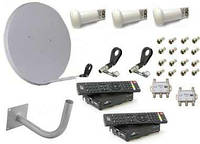 НОВЫЙ Комплект спутникового ТВ на 1 и 2 телевизора. антенна тарелка