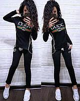 Костюм со змейками по бокам GUCCI, футболка с длинным рукавом и брюки, размеры от 42 до 52
