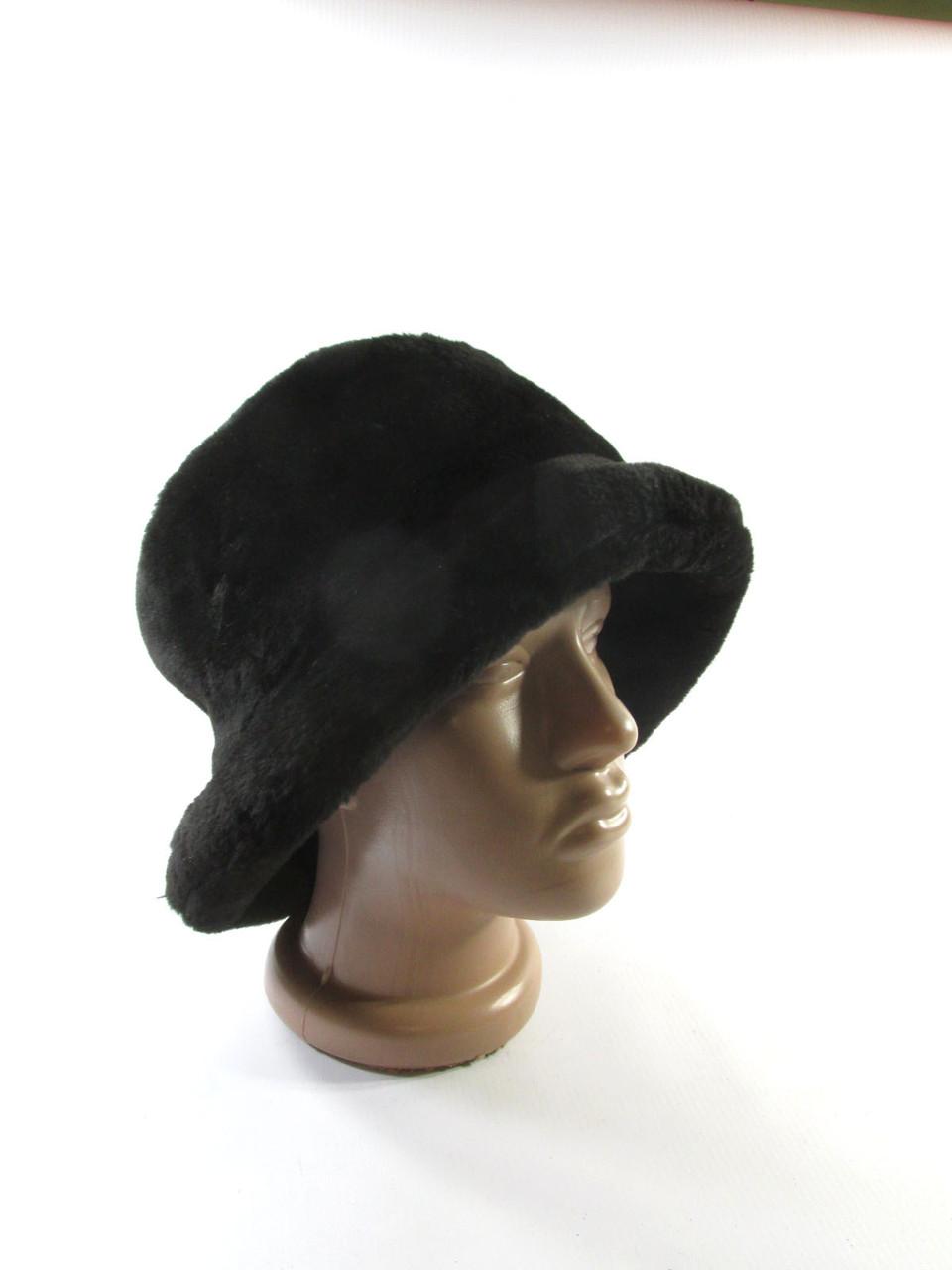 Теплая шапка Vroom&Dressman, 57 см, черная, штучн. мех, Как Но