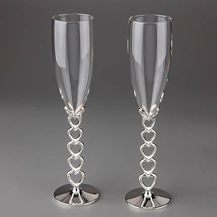 Свадебные бокалы Сердечеки 009G, фото 2