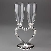 Свадебные бокалы Половинки сердца 010G