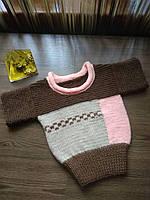 Детский вязаный свитер, ручная работа
