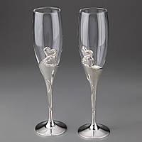 Свадебные бокалы Два сердца 001G
