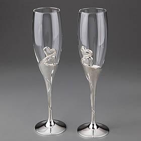 Свадебные бокалы Два сердца, 001G