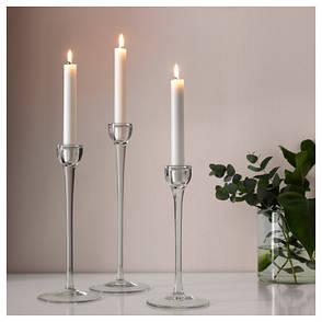 ДЖУБЛ Неароматическая свеча неоплывающая, белый, 19 см, 60191916, IKEA, ИКЕА, JUBLA, фото 2