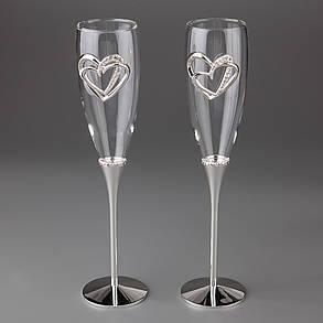 Свадебные бокалы Вечная любовь 005G-2, фото 2